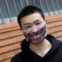 Funny 3D Human Face Anti Dust Mouth Mask