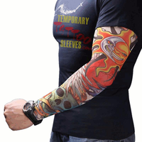 Men Women Nylon Tattoo Arm Sleeves Elastic Cool UV Sun Protection Cycling Fishing Climbing