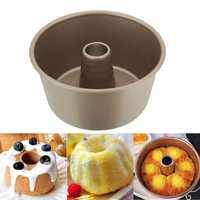 Carbon Steel Round Chiffon Cake Mold Baking Tray Non-stick Bakeware Tools
