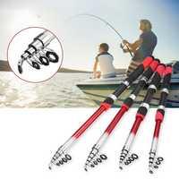 Fishing Rod Portable Sea Spinning Pole Portable Ultralight Fiber Telescopic Fishing Tools