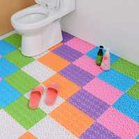 DIY Carpet Candy Colors Plastic Bath Mats Massage Carpet Shower Room Non-slip Mat