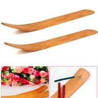 1pc Natural Wood Wooden Incense Stick Catcher Burner 10 Inch