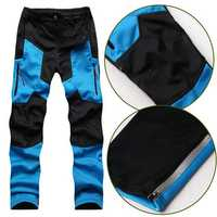 Outdoor Soft Shell Warm Fleece Ski Trousers Waterproof Climbing Pants