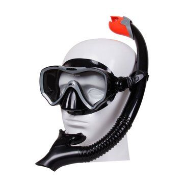 Snorkel Set Dry Top Snorkel Mask Professional Diving Snorkelling Mask and SnorkelL Diving Set