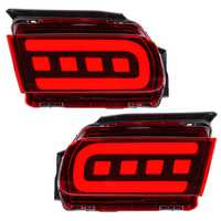 Car LED Rear Bumper Reflector Driving Fog Lights Brake Lamps for Toyota Cruiser Prado 2018