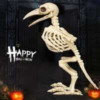 Halloween Bone Skeleton Raven Plastic Animal Skeleton Horror Decoration Prop Bird Crow Skeleton