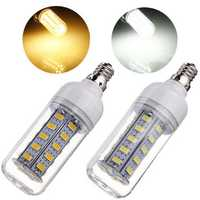 E12 7W 650LM White/Warm White 5730 SMD 36 LED Corn Light Bulb 110V