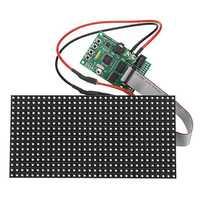 16X32 Colorful Multifunctional Clock Music Spectrum LED Lights Display Assembled Dot Matrix Board