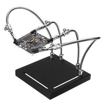 YP 001 Metal Base Universal 4 Flexible Arms Soldering Station PCB Fixture Helping Hands Four Hand UPGRADE VERSION