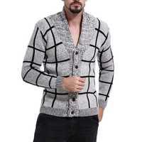 Mens Color Block Casual Sweaters