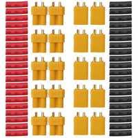 10 Pair URUAV XT30U Male Female Bullet Connectors Power Plug with Heat Shrink Tubing for Lipo Batter