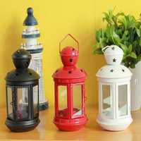 European Candlestick Plastic Candlestick Colorful Furnishing Articles Fashion Classical Mousse Vintage Wall Lamp Lantern Glass Candle Lantern Dining Decorations Fashion Home Iron Glass Lantern Mousse