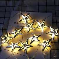 1.65M Battery Powered 10PCS Star Shape Eid Ramadan LED String Light Indoor Home Party Decor