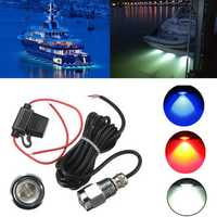 9W IP68 Waterproof Rate 6 LED Car Boat Drain Plug Light Bulb