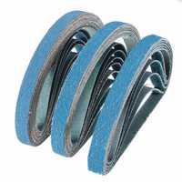 10Pcs 40 to 80 Grit Zirconia Sanding Belts 13x457mm Abrasive Grinding Tool