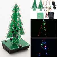Geekcreit® DIY Christmas Tree LED Flash Kit 3D Electronic Learning Kit