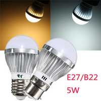 E27/B22 5W 6 SMD5730 LED Globe Ball Light Bulb Spotlight Lamp AC 110-240V