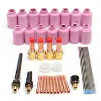 46Pcs TIG Welding Torch Gas Lens Kit Assorted Size Tool WP-17 WP-18 WP-26 WL20