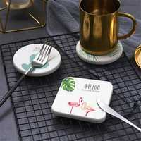 Cup Mat Pad Diatom Mud Coaster Flamingo Placemat Wine Drink Holder Tea Coffee Coasters
