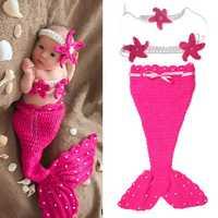 Baby Decor Spring Bedding Sofa Mermaid Blanket Wool Knitting Fish Style Little Tail Blankets