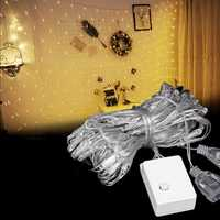 3M*2M 192LED Waterproof Net String Curtain Fairy Light for Holiday Wedding Party EU Plug AC220V