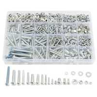 Suleve™ MXSP2 M3 M4 M5 M6 Stainless Steel Phillips Round Head Screw Nuts Flat Washers Assortment Kit 900g