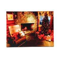 40 x 30cm Operated LED Home Christmas Decor Tree Xmas Canvas Print Wall Art