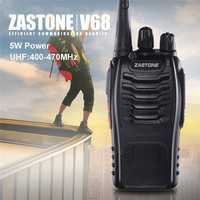 Zastone ZT-V68 UHF 400-470MHZ Professional Handheld 5W 16CH Two Way Radio PMR CB Walkie Talkie