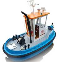 1:18 Pine Mini 270*130*190m RC Tugboat Rescue Simulation ABS Wooden Boat Model Ship DIY Tools Kit Q1