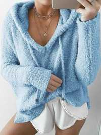 Pure Color Fluffy Sweater