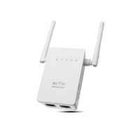 300Mbps 802.11 Dual Antennas Wireless Wifi Range Repeater Booster AP Router UK Plug