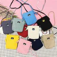 Women Canvas Cat Pattern Cute Crossbody Bag Phone Bag