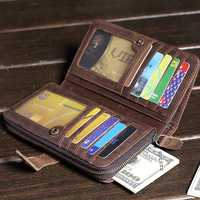 Vintage Genuine Leather Large Capacity Wallet