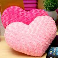 Pink Red Rose Heart Shape Throw Pillow Bed Plush Cushion Home Sofa Decor Valentines Gift