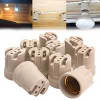 10x E27 Porcelain Ceramic Lamp Holder Socket For Vivarium Basking Heat Lamp