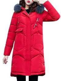 Casual Women Faux Fur Hooded Thicken Coats