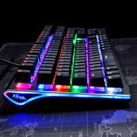 Royal Kludge RK Side 108 108 Keys RGB USB Wired Mechanical Gaming Keyboard Brown Switch AKRO