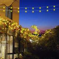 10M Solar Powered 8 Modes 100LED String Light Waterproof Garden Outdoor Christmas Holiday Decoration