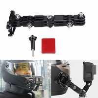 Adhesive Full Face Helmet Front Chin Mount For Sjcam/Antshares/Gopro Hero 6 5 4 3 Action Camera