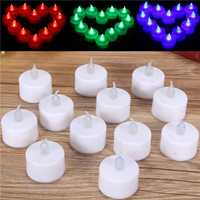 12 Pcs Battery Operated LED Flameless Candles Tea Light Party Wedding Christmas Decor