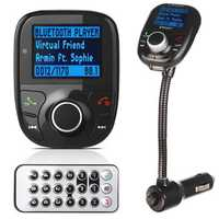 LCD Car Wireless Hands Free Kit MP3 bluetooth Player Audio FM Transimittervs USB Charger