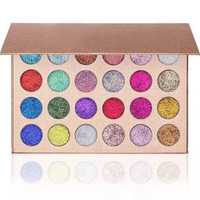 24 Color Diamond Glitter Rainbow Eye Shadows MakeUp Cosmetic Pressed Palette