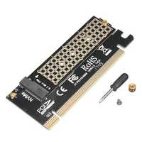 M.2 NVMe SSD NGFF to PCI-E 3.0 X16/X4 Adapter M Key Interface Expansion Card
