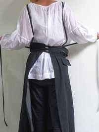Sleeveless Straps Belted Cotton Vintage Apron Dress