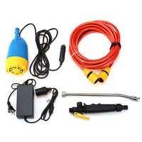 12V 80W High Pressure Car Washer Kit Water Wash Pump Car Camper Van Sprayer Suit