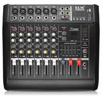 EL M PMX602D-USB 6 Channel Power Amplifier DJ Karaoke Audio Mixer Support USB Memory Card
