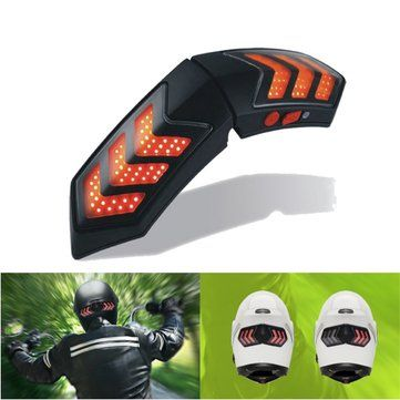 12V Wireless Smart Motorcycle Helmet Lights W/ USB Charging Casque Brake Signal Lamps Waterproof