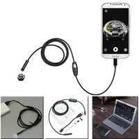 7mm 1.5m 6LED Lens USB Camera Borescope for Android Phone Laptop