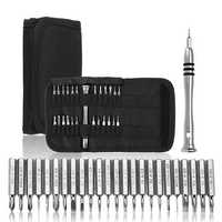 25 in 1 Precision Screwdriver Set Torx Canvas Wallet Bag Style for iPhone Cellphone Electronic Repairing Tools