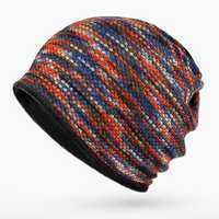 Unisex Cotton Knitted Multicolor Thickening Warm Beanie Hats